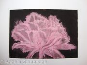 Cool Cystal Aquatint Etching Pink