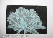 Cool Cystal Aquatint Etching Turq