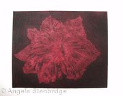 Caspin Dark Tulip Aquatint Etching Burg