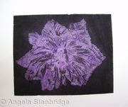 Caspin Dark Aquatint Etching Lilac