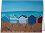 Beach Huts- Medium Greetings Card