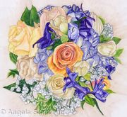 Bridal Bouquet Inktense Drawing