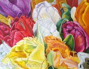 Bridal Bouquet Oil Painting Size 1