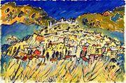 View of Bosa Sardinia