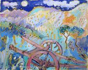 Sardinian Landscape with Cart