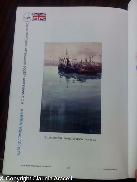 My painting in IWS India exhibition catalogue