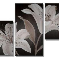 Chocolate Lilies (triptych)
