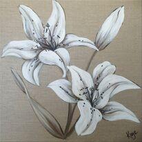 Linen Lilies 1