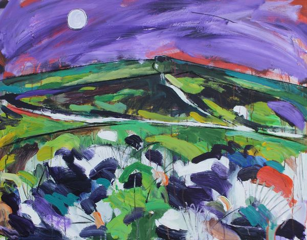 Moon over Stiperstones - SOLD