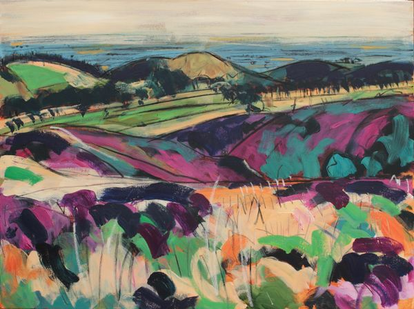 The Shropshire Plain from Stiperstones - sold