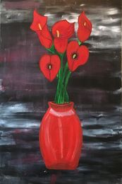Cala Lily  in red