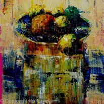 FRUIT IN BOWL ON BOX