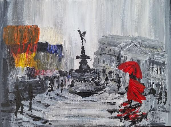 Eros dancing in the rain