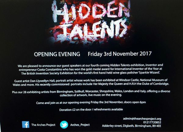 Hidden Talents Opening Night info