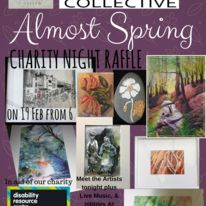 Charity raffle night for Almost Spring Fine Art Exhibition for 2018