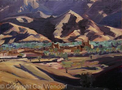 Draa Valley, Afternoon Light