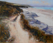 A sandy path near Padstow