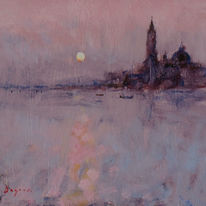 1573 At the close of the day, Venice lagoon