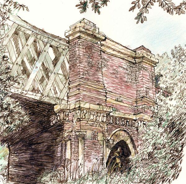 Kew Rail Bridge Drawing