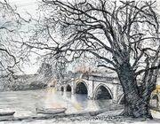 Richmond Bridge flood tide at dawn