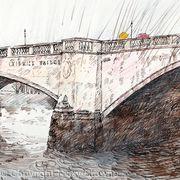 Chiswick Bridge sudden shower