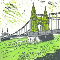 flood tide Hammersmith Bridge