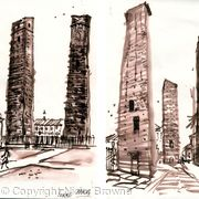two brush sketches PAVIA