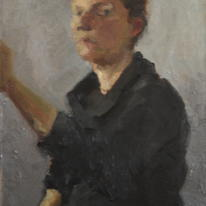Artist Painting a Self Portrait