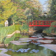 Painting Fanhams Hall Japaneese Garden