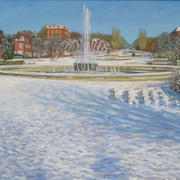 Welwyn Garden City Fountain-Snow