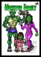 Monster Family portrait