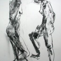 Standing female nude 2