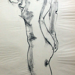 Standing female nude 3