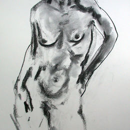 Standing female nude 7