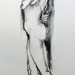Standing female nude 8