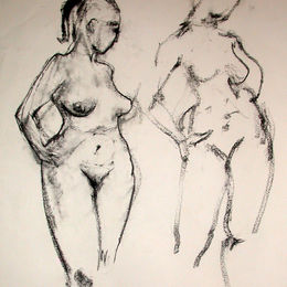 Standing female nude 11