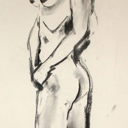 Standing female nude 12