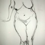 Standing female nude 9