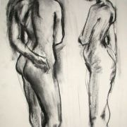Standing female nude 10