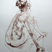 Seated female nude 1