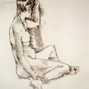 Seated female nude 2