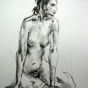 Seated female nude 3
