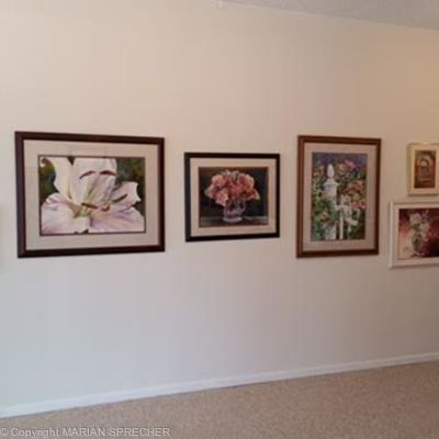 WALL OF ARTWORK IN GALLERY