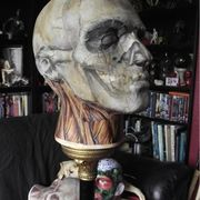 Zombie Head Sculpture Decoupage by Kuriology