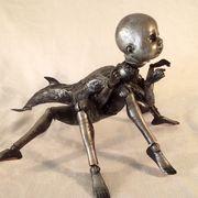 Alien Anthropod Baby Assemblage Sculpture by Kuriology