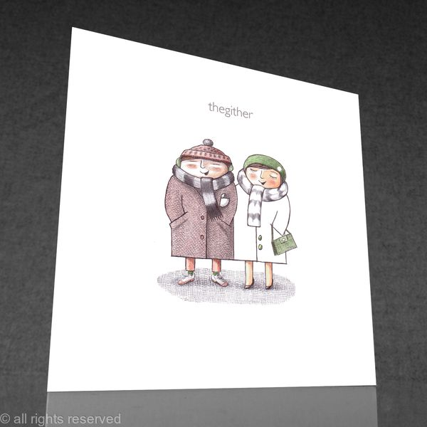 1 x thegither greetings card