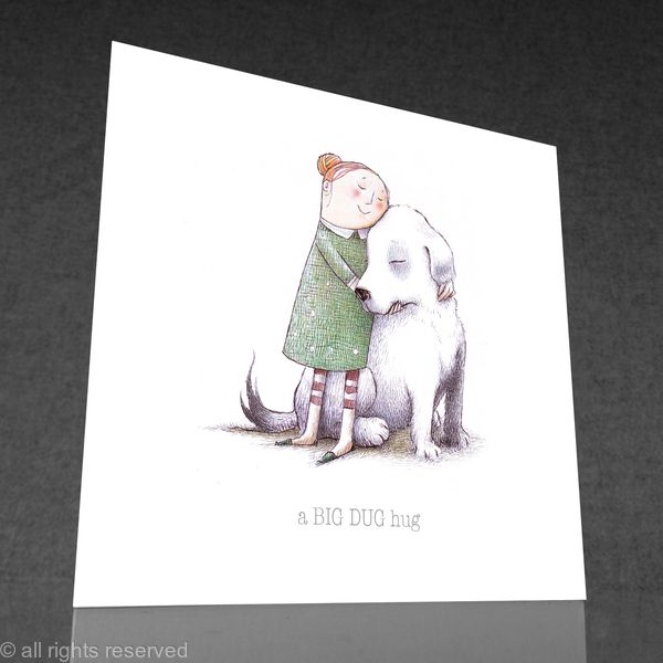 1 x a BIG DUG hug greetings card