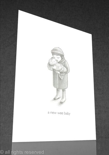 1 x A new wee baby greetings card