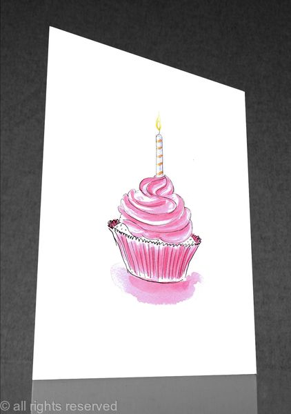 1 x cake A. greetings card
