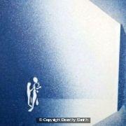 Blue nude in open door